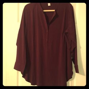 Beautiful cherry bark colored tunic -Old Navy NWOT